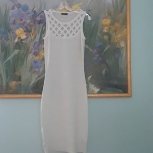 Cream bodycon Dress  for this season EC